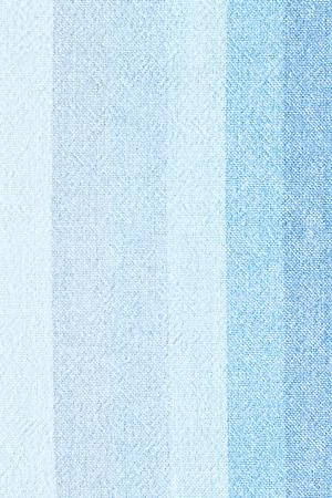 striped linen - close up of blue linen textile