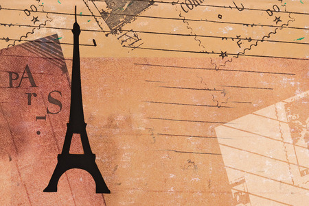 vintage postcard: Paris - Vintage Valentines Day Postcard