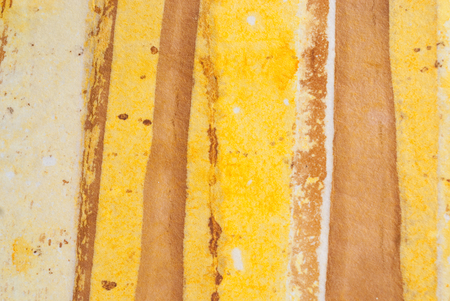 handmade paper: beige and yellow stripes on handmade paper Stock Photo