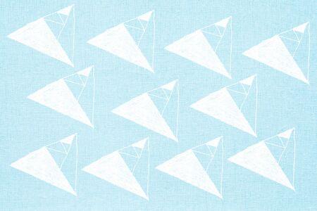 linen texture: geometric print on linen texture