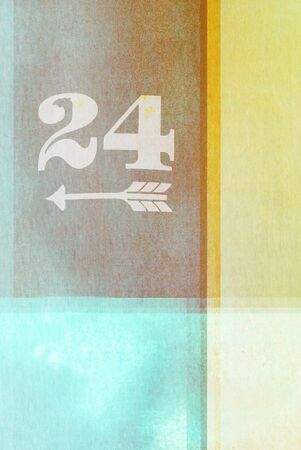 old fashioned: old fashioned number twenty four  on textured abstract background - earthy colors - graphic design