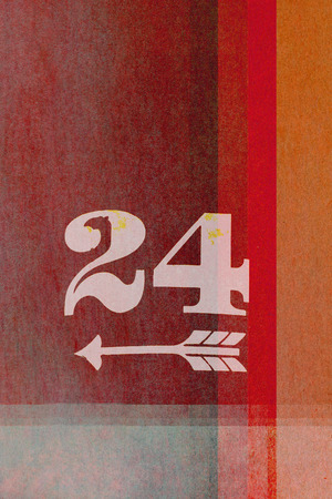 earthy: old fashioned number twenty four  on textured abstract background - earthy colors - graphic design