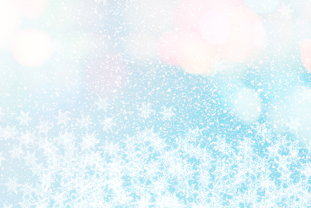 spotted: snow effect - blue abstract background - colored spotted design