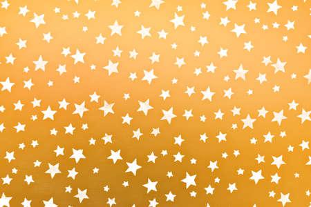 glitzy: little white stars on golden background