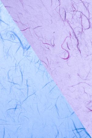 fondo geometrico: azul superficie del papel hecho a mano - elemento de diseño Foto de archivo