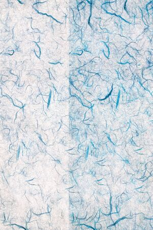 hand made: blue hand made paper - design element