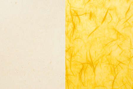 textured paper: yellow handmade paper - textured design element