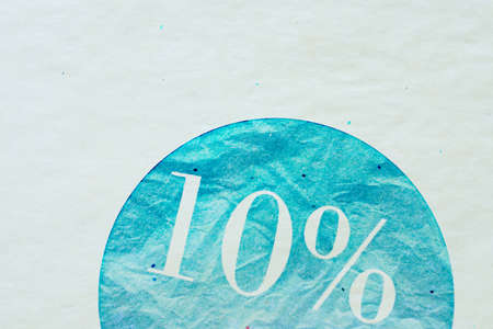 concurrence: sale sign - 10 percent on vintage ancient background Stock Photo