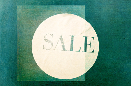 concurrence: sale sign - Print on vintage ancient background Stock Photo