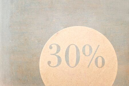 concurrence: sale sign - 30 percent on vintage ancient background Stock Photo