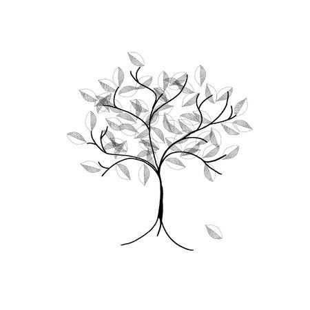 seasonal: cute tree - illustration - seasonal greeting card