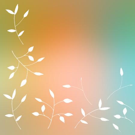 hand drawn petals - greeting card