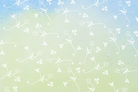 watercolor paper: white  little flowers on watercolor paper - flower background - abstract design - hand drawn illustration