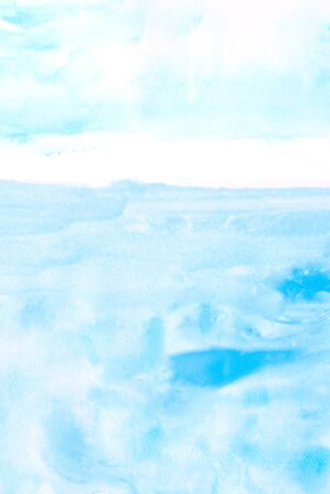 gouache: blue watercolors on paper texture - background design - hand painted element Stock Photo