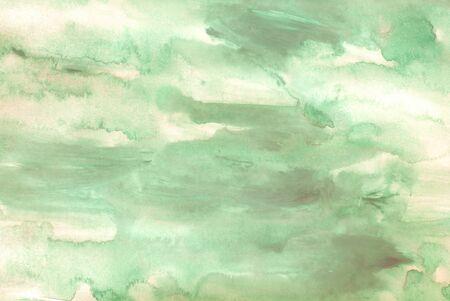gouache: green watercolors on paper texture - background design - handpainted element