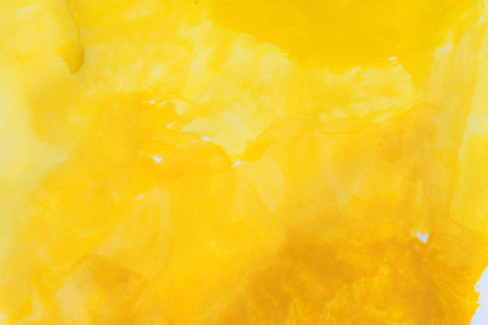 abstract backround: yellow watercolors on paper texture - handpainted design element - abstract backround Stock Photo
