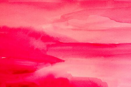 lila: pink fresh watercolors on textured paper surface - design element - abstract background Stock Photo