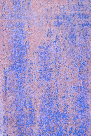oxidized: oxidized material - close up of a textured oxidized surface background design - blue and violet Stock Photo