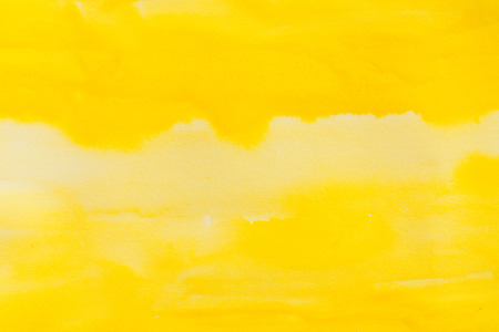 fizz: yellow watercolors on textured paper surface - design element - abstract background trend color citron fizz Stock Photo