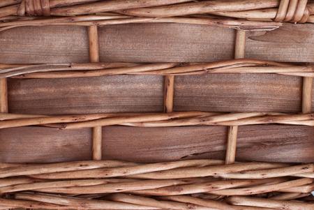 rattan mat: close up of old basket texture - raw material
