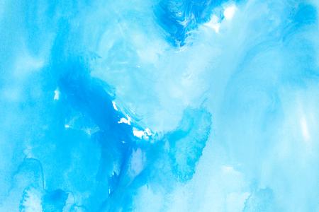gouache: blue watercolors on paper texture - background design - handpainted element
