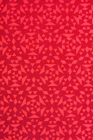 arabe: primer plano de diseño radtional roja impresa sobre el algodón de textura - fondo abstracto de la moda