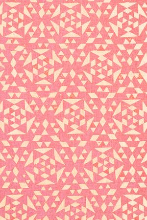 arabe: primer plano de diseño malasio tradicional rosa impreso en algodón de textura - fondo abstracto de la moda Foto de archivo