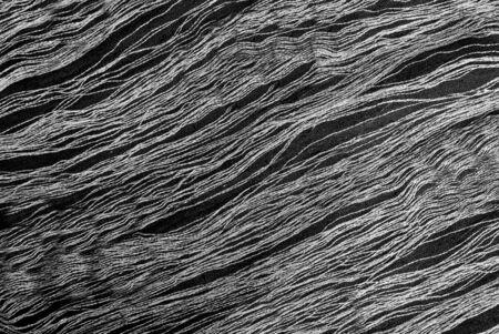black silk: close up of elegant black silk - fashion design - abstract background Stock Photo