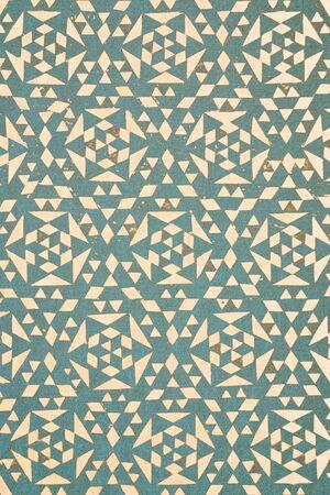 arabe: primer plano de diseño malasio tradicional turquesa impreso en algodón de textura - fondo abstracto de la moda