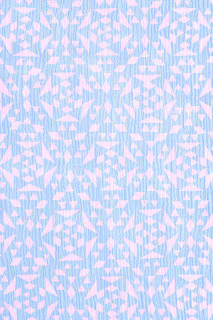 �rabe: close up of blue tradtional design printed on textured cotton - abstract fashion background