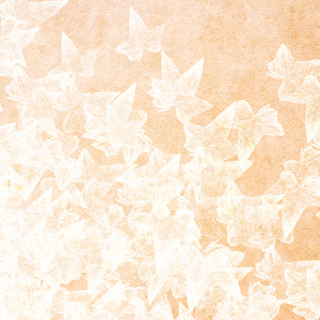 folliage: white leaves on paper background