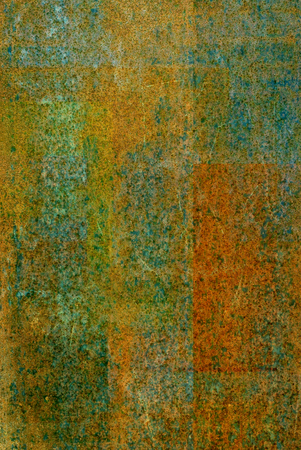 oxidized: green oxidized material - close up of a textured surface oxidized background design