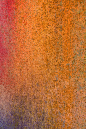 oxidized: oxidized material - close up of a textured oxidized surface - background design Stock Photo