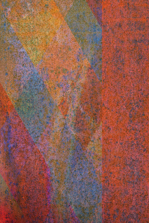 oxidized: oxidized material - close up of a textured oxidized surface background design
