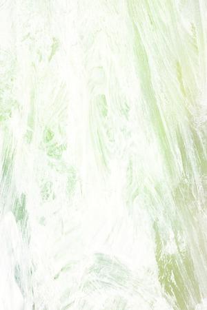 pastel tone: brush stroke - green watercolors Stock Photo