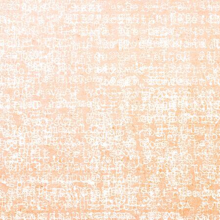 Typographer letter on orange paper background