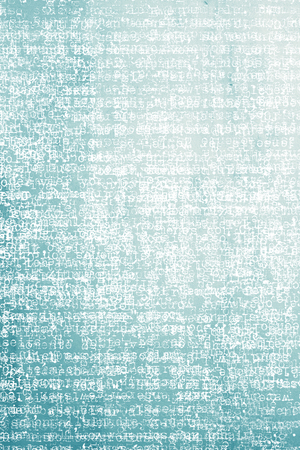 monotype: Typography letter on blue paper background Stock Photo