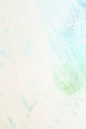 traces: white brush painting - green and blue traces Stock Photo