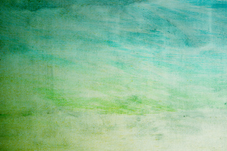 green watercolors on paper surface