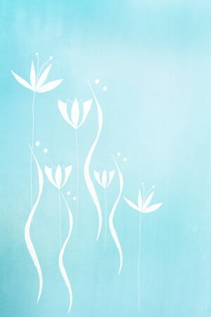 hand painted flower design on pastel tone background