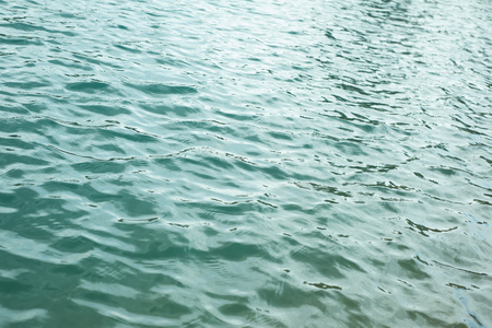 perfect waves: blue water surface - close up of water texture Stock Photo