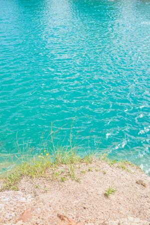 Superficie del agua azul - cerca de la textura del agua Foto de archivo - 80322619