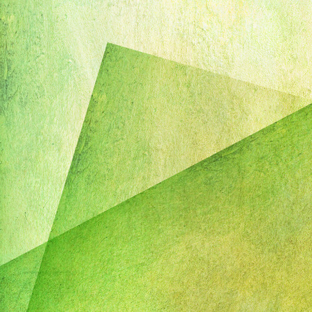 green geometric shapes on wall texture Stock Photo