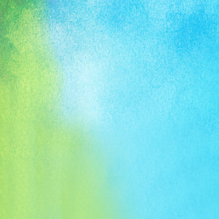 green and blue watercolors on textured paper surface - design element - abstract background
