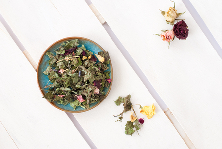 tea and roses - aromatic tea arrangement