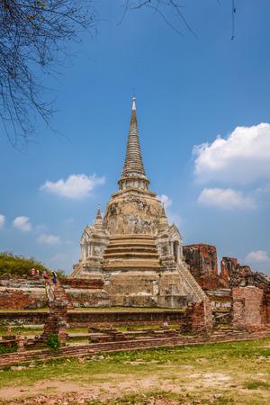 ayuthaya: Ancient pagoda in Ayuthaya province, Thailand Stock Photo