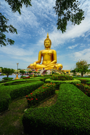 angthong: Big Buddha Image at Wat Muang, Angthong, Thailand