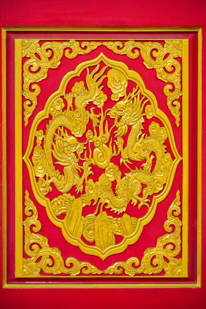 decorate: Dragon sculpture to decorate Chinese church wall