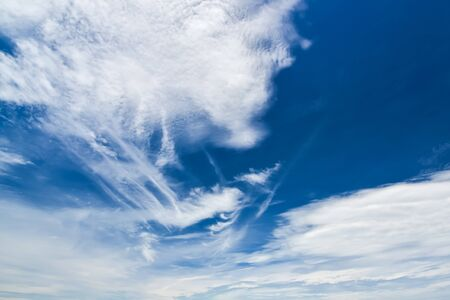 shiny day: Clear blue sky with cloud in shiny day