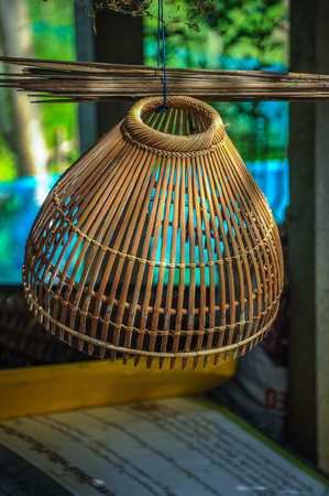 wicker work: Thailand traditional fishing tool, mostly used in rural of Thailand Stock Photo
